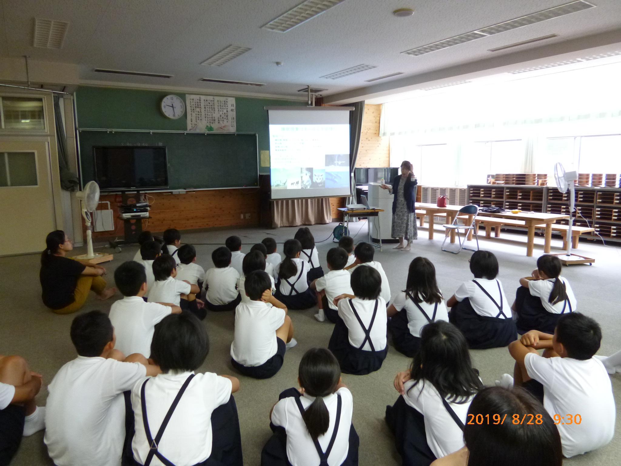 金沢市立三谷小学校での睡眠講演